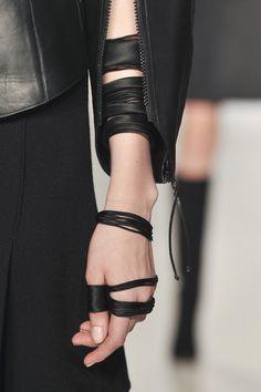 | leather | wrap | wrist | arm warmer | bracelet | black | ring |