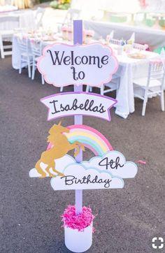 DIY Unicorn Birthday Welcome sign