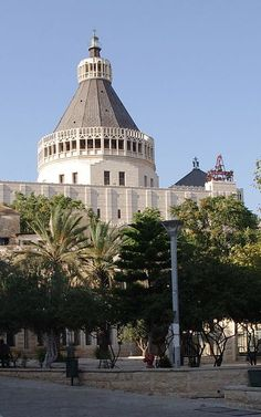 The Basilica of the Annunciation.  Click on the image to access, view, and download our series of FREE pictorial eBooks of the Holy Land!