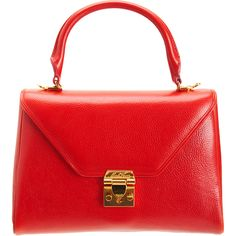 Mark Cross Scottie Small Satchel in Red