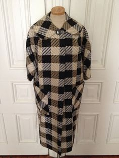 Vintage 60s plaid swing coat  by nanapatproject on Etsy, $48.00