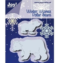 Joy Cutting & Embossing stencil Ijsberen