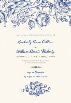 Touch of Rose - Wedding Invitation Customize it and send or print for free! Dinner Invitation Template, Free Wedding Invitation Templates, Budget Wedding Invitations, Dinner Party Invitations, Wedding Invitation Cards, Wedding Programs, Wedding Venues, Menu Template, Motif Floral