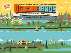 Outside Lands 2014 Branding designed by DKNG. Connect with them on Dribbble; the global community for designers and creative professionals. Illustration Art Drawing, Creative Illustration, Best Logo Design, Branding Design, Graphic Design, Childrens Logo, Outside Lands, San Francisco, Beer Art
