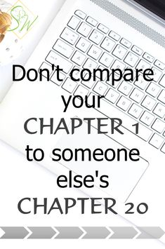 Don't compare yourself to anyone else. You're not in the same situation, you haven't been going at it the same amount of time.