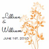 Favor Tags. Printable Wedding Invitations: Orange Contemporary Leaves Template Kit