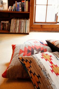 Pillows are a fun and affordable way to change up your pattern preferences.