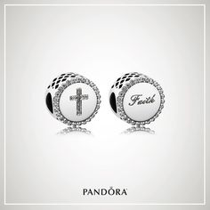 Celebrate your faith in sparkling pavè and sterling silver the NEW Cross / Faith charm from PANDORA! #shopdewaynes #pandorajewelry #faith