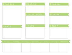 Shopping list. Millie Morgan Media: printables