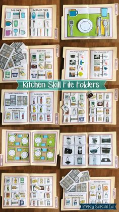 Kitchen Life Skill File Folders Kitchen Life Skill File Folders,SPED on TPT Reinforce kitchen life skills using file folders! Practice these kitchen skills even while in the classroom at desks! Special Education Activities, Life Skills Activities, Special Education Classroom, Classroom Activities, Learning Activities, Gifted Education, Autism Classroom, Preschool Printables, Educational Activities