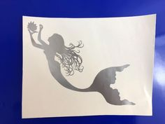 Mermaid Holding Pearl Metallic Gray Vinyl Decal Sticker Window Car Electronics | eBay Motors, Parts & Accessories, Car & Truck Parts | eBay!