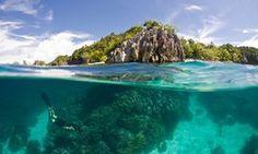 Snorkeling at Raja Ampat, in Indonesian New Guinea.