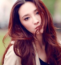Photos of the best hair colors for Asians other than black hair, including red, and light, medium, and dark brown hair colors.
