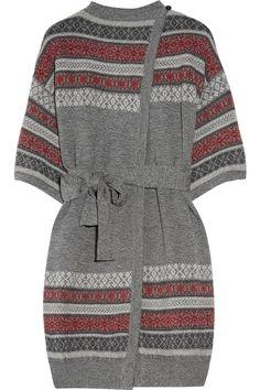Fair Isle Merino Wool Cardi-coat, Matthew Williamson