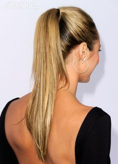 The latest ponytail hairstyles trends in 2014 and 2015 are all here. See the pictures of celebrities with ponytail hairstyles and much more information. Sleek Hairstyles, Ponytail Hairstyles, Wedding Hairstyles, Beautiful Hairstyles, Just Beauty, Hair Beauty, Slicked Back Hair, Sleek Ponytail, Love Your Hair