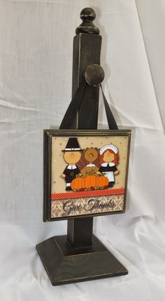 ~Relief Society Corner: Super Saturday 2014 - Stand with 12 seasonal wood plaques - Cute! (I would choose different pics, but I love the idea!)