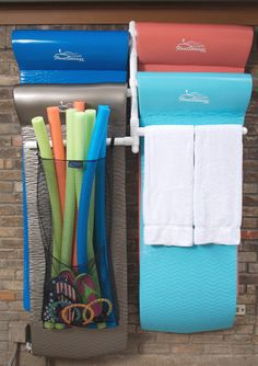 Pool Organization Ideas pool organization tips 6 Float Hanging Storage Rack This Would Be So Awesome And I Love The Mesh