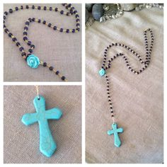 A personal favorite from my Etsy shop https://www.etsy.com/listing/184183602/sapphire-turquoise-gold-rosary