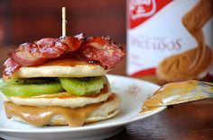 Speculoos, Bacon, and Kiwi Pancakes...OMG!