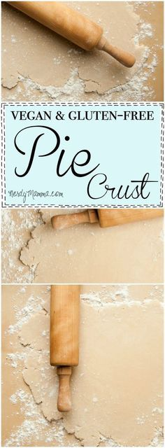 This recipe for vegan and gluten-free pie crust is so easy! And flaky--I thought it would be dry, but it's perfect! Love it!