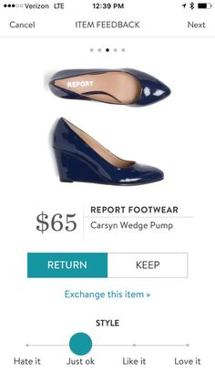 I love wedge style shoes!! I'm not too into the shine of these Stitch Fix Report Footwear Carsyn Wedge Pump