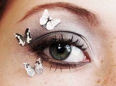 Butterfly Eye Makeup Decal - Glitter Eye Shadow Makeup Stickers 3pcs on Etsy, $13.70 CAD