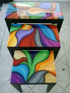 mesas resinadas a la venta - would work well for mosaic pattern