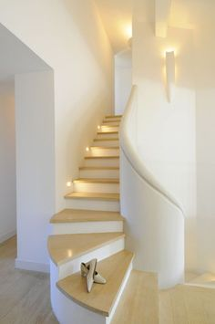 Love the sculptural quality of this staircase by Meilin Bristiel