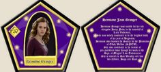 Hermione Granger Chocolate Frog Card