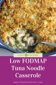 Feb 2020 - Our Low FODMAP Tuna Noodle Casserole is very close to the original! It even has peas - in a low FODMAP serving size. Everybody loves this easy dish. Fodmap Recipes, Diet Recipes, Ibs Recipes Dinner, Fodmap Foods, Keto Foods, Vegetarian Recipes, Tuna Noodle, Noodle Casserole, Tuna Casserole