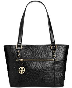 8afbe89308 Giani Bernini Ostrich-Embossed Tote