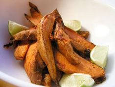 Spicy Sweet Potatoes With Lime: http://www.seriouseats.com/recipes/2008/03/dinner-tonight-spicy-sweet-potatoes-with-lime-recipe.html?ref=related