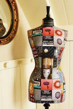 Manequim de costureira - PAP | MEU MUNDO CRAFT