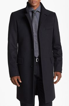 BOSS HUGO BOSS 'Sintrax' Wool Blend Coat available at #Nordstrom