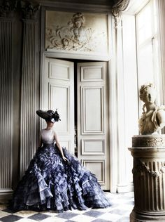 Kristen Stewart | Dress by Christian Dior Couture Spring 2012  | Photog: Mario Testino | Vanity Fair July 2012
