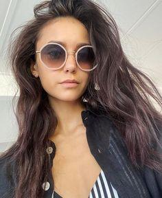 425 Likes, 6 Comments - Nina Dobrev Round Sunglasses, Sunglasses Women, Celebrity Haircuts, Split Ends, Vogue Australia, Nina Dobrev, Celebs, Celebrities, Purple Hair