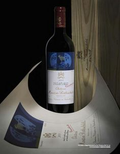 Château Mouton Rothschild's 2008 vintage, which featured artwork by Chinese artist Xu Lei. (Courtesy Photo)