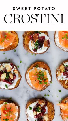 Crostini is a simple, sophisticated party app. But before you reach for toasted bread for the base, swap in roasted sweet potatoes instead. — via @PureWow