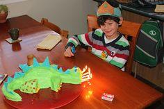 Very cool dinosaur cake