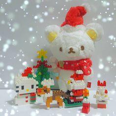 🎄❄✨🌟🐻🌟✨❄🎄 . #可愛い #cute #kawaii #igsg #instadaily  #rilakkuma #リラックマ #plushies #rilakkumalove  #rilakkumalover  #ゆるっと毎日リラックマ #bear #white #toycrewbuddiesjp #tokyootakumode #xmas #chirstmas  #snowman  #love #christmastree #xmastree #white  #snow #winter #decoration #reindeer #hellokitty #sanrio #santa #red #nanoblock