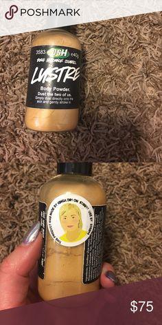 Lush luster body powder Lush luster body powder smells jasmine Lush Makeup