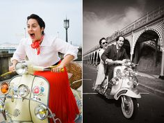 Adorable Brighton couple re-enacts Roman Holiday for wedding announcement