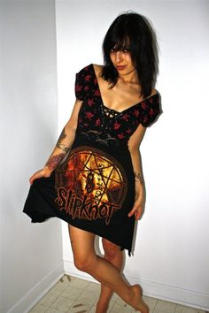 I am the proud owner of this one of a kind Slipknot Dress <3
