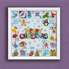 BoGo Pattern cross stitch CHRISTMAS CALENDAR Instant by LolitaMade