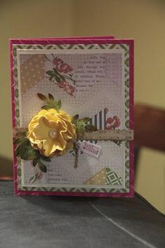 Simple - I like the flower on this card