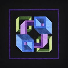 Take a look at the latest optical illusion quilt from Christopher Florence, the creator of The Labyrinth Walk. With no Y-seam construction, this square quilt is not only stunning, but easy! The quilt finishes to approximately x This kit inclu 3d Quilts, Barn Quilts, Mini Quilts, Strip Quilts, Optical Illusion Quilts, Optical Illusions, Neutral Quilt, Quilt In A Day, Geometric Quilt