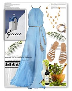 Ancient Greece Inspiration by sweta-gupta on Polyvore featuring polyvore fashion style Ancient Greek Sandals Kevia Merola Salvatore Ferragamo Guide London clothing