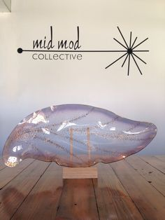 Glama Glass decorative dish. Available now at Mid Mod Collective. Email midmodcollective@gmail.com for more info. SOLD