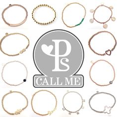 Pscallme jewelry with pure gold! www.pscallme.nl