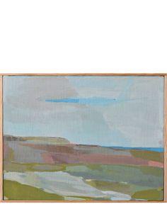 """sold - 1200 - 13x10 """"Sliver of Sea 1"""" by Karen Smidth""""Sliver of Sea 1"""" by Karen Smidth"""